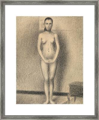 Study For Poseuses Framed Print by Georges-Pierre Seurat
