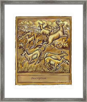 Study For Pronghorn And Deer Sculpture Framed Print by Dawn Senior-Trask