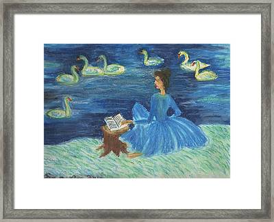 Study For Swan Lake Reader Framed Print by Sushila Burgess