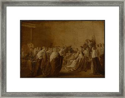 Study For The Collapse Of The Earl Of Chatham Framed Print