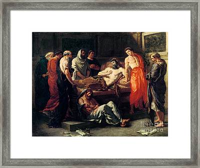 Study For The Death Of Marcus Framed Print by MotionAge Designs