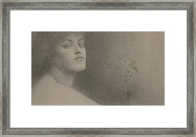 Study For The Offering Framed Print by Fernand Khnopff