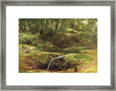 Study For The Sylvan Spring, 1854 Framed Print by Richard Redgrave