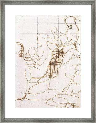 Study For The Turkish Bath Framed Print by Jean Auguste Dominique Ingres