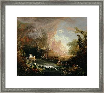 Study For The Voyage Of Life Childhood Framed Print