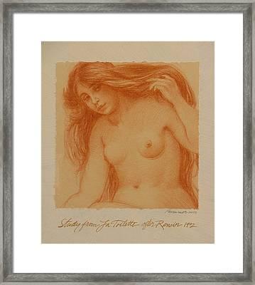 Study From La Toilette After Renoir Framed Print by Gary Kaemmer