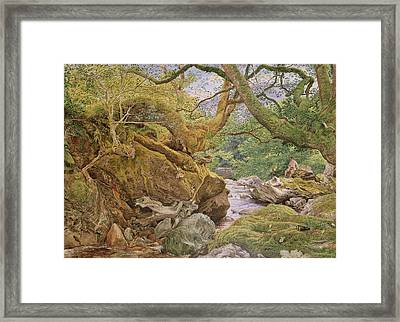 Study From Nature, Inveruglas, 1857 Framed Print