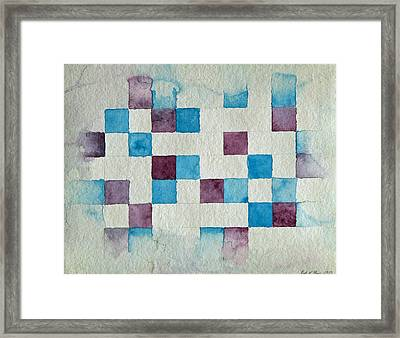 Study In Blue And Violet Framed Print