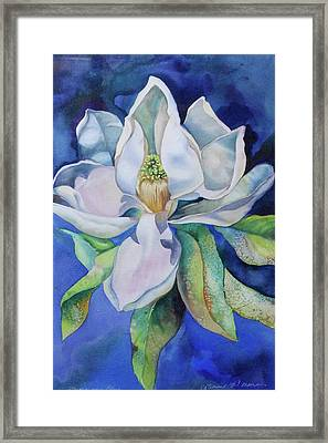 Study In Blue Framed Print by Catherine Moore