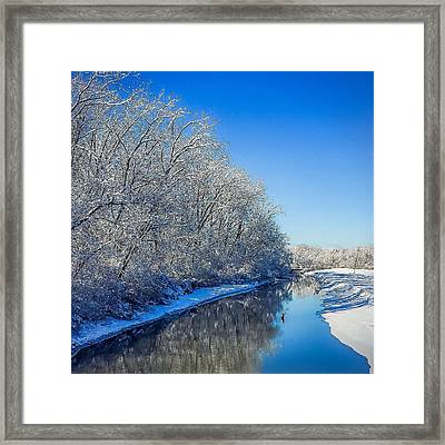 Framed Print featuring the photograph Study In Blue by Kendall McKernon