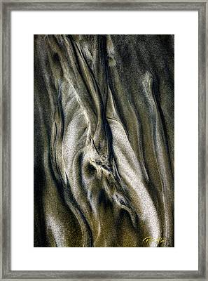 Framed Print featuring the photograph Study In Brown Abstract Sands by Rikk Flohr