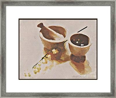 Framed Print featuring the digital art Study In Brown by Alexis Rotella