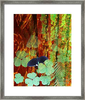 Study In Green And Brown Framed Print