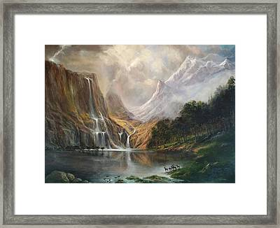 Framed Print featuring the painting Study In Nature by Donna Tucker