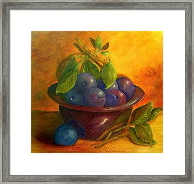 Study In Purple Framed Print