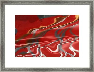 Study In Red Framed Print