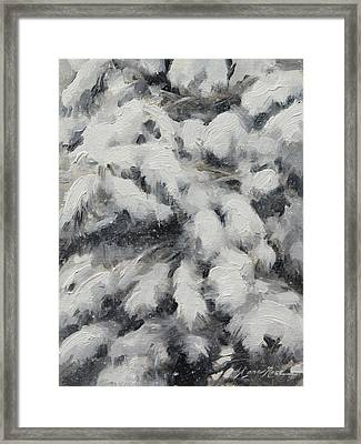 Study In Torrit Grey Framed Print by Anna Rose Bain