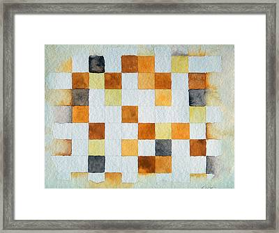 Study In Yellow And Gold Framed Print