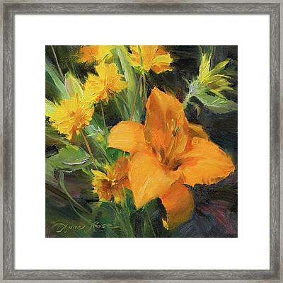 Study In Yellow Framed Print by Anna Rose Bain