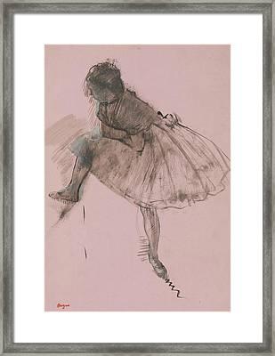 Study Of A Ballet Dancer Framed Print