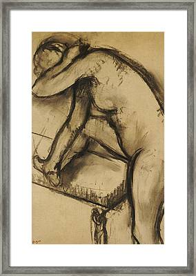 Study Of A Dancer Framed Print by Edgar Degas