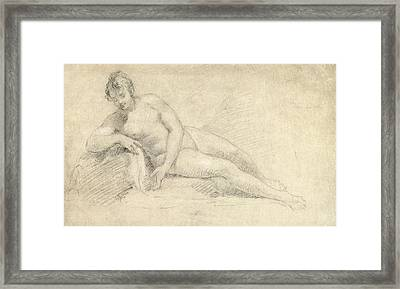 Study Of A Female Nude  Framed Print by William Hogarth