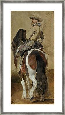 Study Of A Horse With A Rider Framed Print
