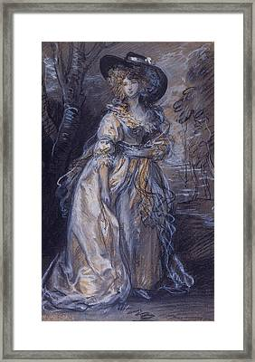 Study Of A Lady Framed Print by Thomas Gainsborough