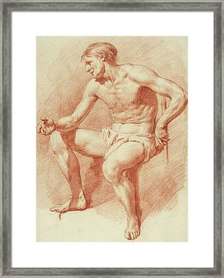 Study Of A Male Nude Framed Print