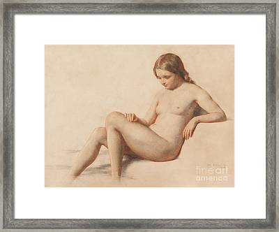 Study Of A Nude Framed Print by William Mulready