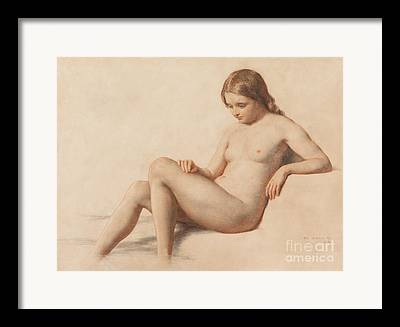 Posed Nude Drawings Framed Prints