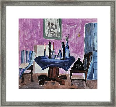 Study Of A Room Framed Print