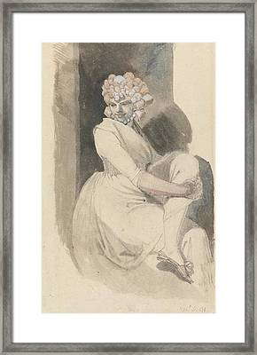 Study Of A Seated Woman Framed Print by Henry Fuseli