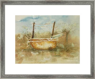 Study Of A Watering Tub Framed Print by Vicki  Housel