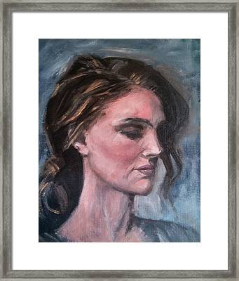 Study Of A Woman In Moonlight #1 Framed Print by Brian Kardell