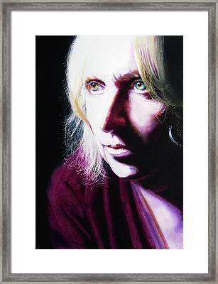 Study Of Alice Framed Print by Denny Bond