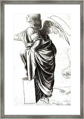 Study Of An Angel  Framed Print
