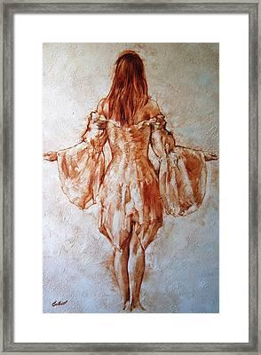 Study Of An Angel Framed Print by Stuart Gilbert