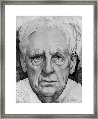Study Of An Older Man Framed Print
