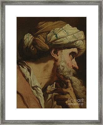 Study Of An Oriental Head Framed Print by Gaetano Gandolfi