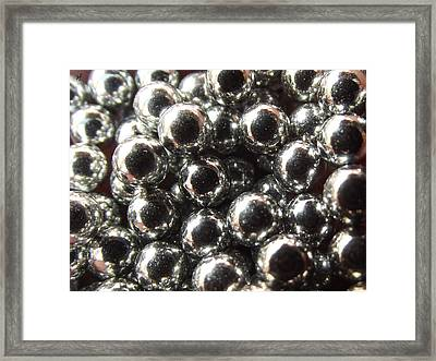 Framed Print featuring the photograph Study Of Bb's, An Abstract. by Shelli Fitzpatrick