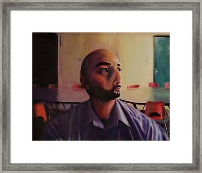 Study Of Face Morph Framed Print by Sal Carreiro