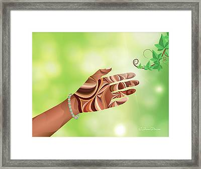 Study Of Hands No.12 - Pearls C Framed Print