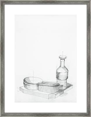 Study Of Kitchen Objects Framed Print by Dan Comaniciu
