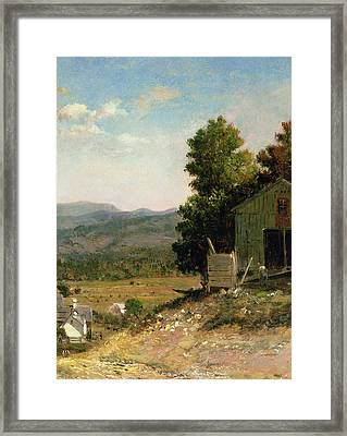Study Of Old Barn In New Hampshire Framed Print by George Loring Brown