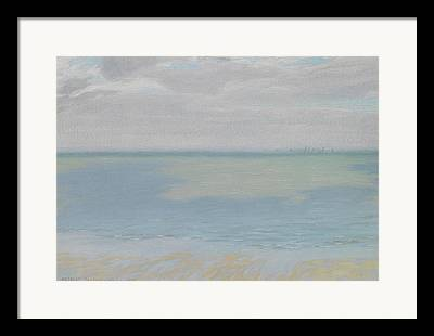 Study Of Sky And Sea Framed Prints