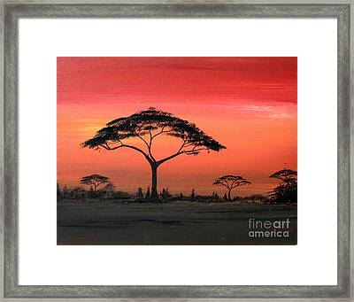 Study Of Sunset 6 Framed Print by Abu Artist
