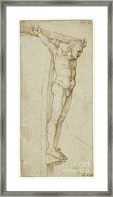 Study Of The Good Thief By Albrecht Durer Framed Print by Esoterica Art Agency