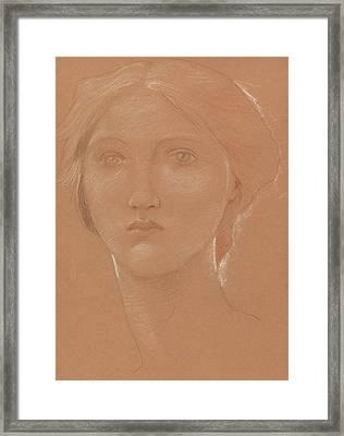 Study Of The Head Of Margaret Burne Jones Framed Print