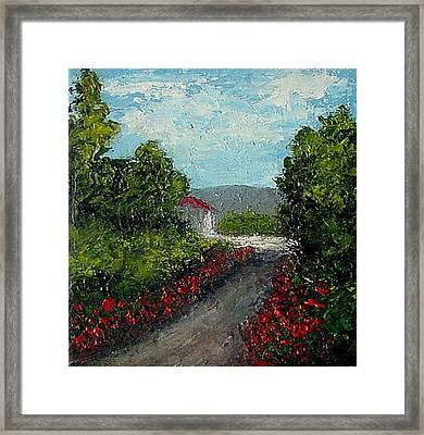 Study Provence Roses Framed Print by Fred Wilson